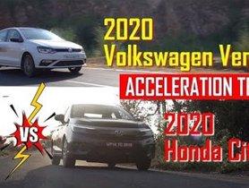2020 Honda City MT Vs Volkswagen Vento TSI MT Acceleration Test - VIDEO