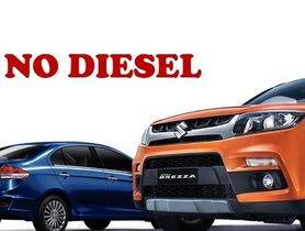 Maruti Suzuki To Discontinue All Diesel Cars From April 2020