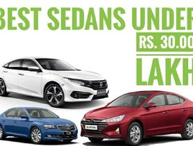 What Are The Best Sedans Under 30 Lakhs in India?