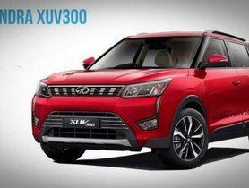 Features Of Mahindra XUV300 W4 (Base Variant) Disclosed