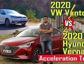 All-New Hyundai Verna IVT Vs Volkswagen Vento TSI Acceleration Test - VIDEO