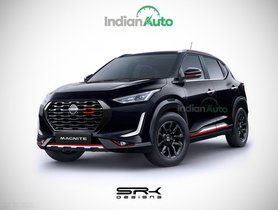 Nissan Magnite Black Edition Rendered, Looks Stealthy - VIDEO