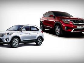 Kia Seltos Vs Hyundai Creta Prices Specifications, Interior, Dimensions Comparison