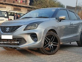 This Maruti Baleno Gets Gorgeous-looking 17-inch Aftermarket Alloy Wheels