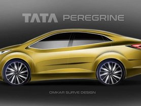 Upcoming Tata-Altoz Based C2-sedan Peregrine Rendered Digitally
