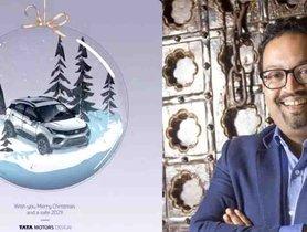 Pratap Bose Wishes Christmas With Tata Nexon In A Snowglobe