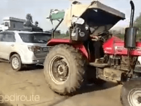 Watch Tug of War Between Toyota Fortuner and Tractor