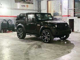 New Mahindra Thar With 22-inch Rims Looks Gawky Yet Cool
