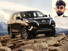 Man Pays 34 Lakh For Number Plate, Almost Same As His NEW Toyota Fortuner
