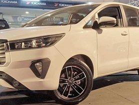 2020 Toyota Innova Crysta Facelift Features Aftermarket Rims