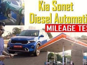 Kia Sonet Diesel AT Mileage Test In Regular Driving Conditions - VIDEO
