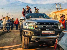 So-Called Ford Ranger Raptor Prototype Joins Farmer Protest