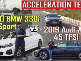 BMW 330i M Sport Vs Audi A6 45 TFSI, Acceleration Test - VIDEO