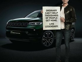 Upcoming Jeep Compass Facelift's Teaser Images Out - Feature Sonu Sood