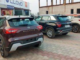 Nissan Magnite Spotted Alongside Hyundai Creta, Packs in Enough Street Presence?