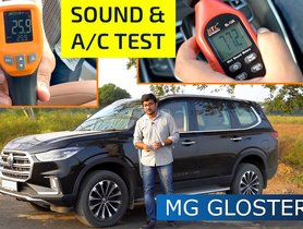 MG Gloster NVH Levels And AC Cooling Test - VIDEO