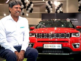 Jeep Compass Added to Cricket Legend Kapil Dev's Cars Collection