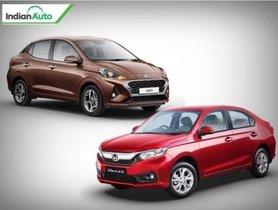 Hyundai Aura vs Honda Amaze Comparison: Compact Sedan Face-off