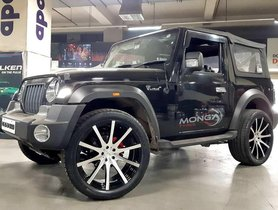 This 2020 Mahindra Thar with 22-inch Aftermarket Rims is a Mall Crawler Now
