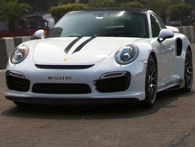 Sachin Tendulkar Seen Driving A Porsche 911 Turbo S In Mumbai