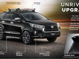 Check Out Toyota Innova Crysta Accessories Price List Here