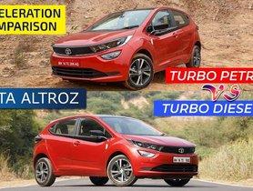 Tata Altroz iTurbo vs Diesel 0-100 kmph Acceleration Comparison