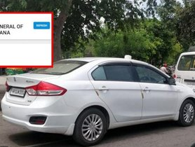 Haryana DGP Car Fined After a Twitter Complaint Brings Violation to Light