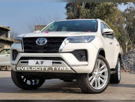This 2021 Toyota Fortuner Facelift Gets Massive 22-inch Rims
