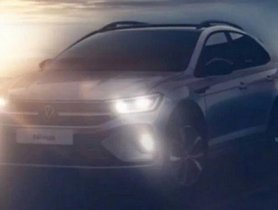 Front-end of Volkswagen Nivus (VW Polo-based SUV) Unveiled In New Teaser Image