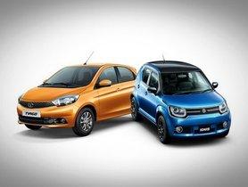 Tata Tiago Vs Maruti Ignis - Comparison of Price, Specs, Interior Features & more