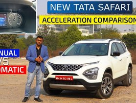 2021 Tata Safari Manual Vs Automatic Acceleration Test - VIDEO