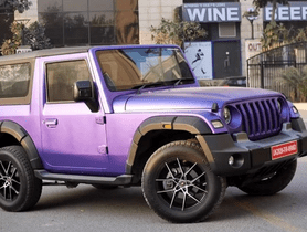 2020 Mahindra Thar Customized with a Purple Body Wrap and 18-inch Rims