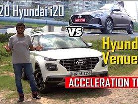2020 Hyundai i20 Vs Venue Specs Comparison