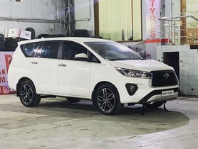This Toyota Innova Crysta Facelift gets New Shoes to Look Cool