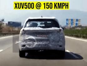 Upcoming Mahindra XUV500 Snapped at 150kmph