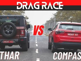 Jeep Compass vs Mahindra Thar Participate in Drag Race, Interesting Results