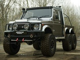 Maruti Gypsy Rendered Into a 6X6 Off-Road Vehicle