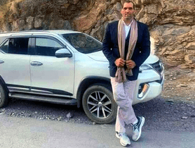 Toyota Fortuner Looks Minuscule In Front of WWE Champion Great Khali