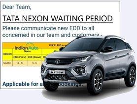 Tata Nexon Diesel Commands 50% Lower Waiting Period Than Petrol Variant