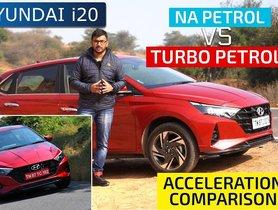 New Hyundai i20 Turbo Vs 1.2 Petrol Acceleration Comparison - VIDEO