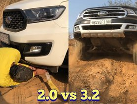 Ford Endeavour 3.2 Gets Beached, Has To Be Pulled Out By 2.0 Version -VIDEO