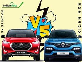Nissan Magnite XE vs Renault Kiger RXE – Base Variant Feature List Knockdown