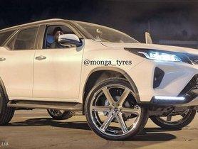 First Ever Modified Toyota Fortuner Legender gets Massive 24-inch Rims