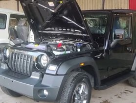 This New Mahindra Thar Gets Aftermarket Electric Hood Release - VIDEO