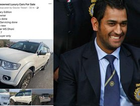 Mitsubishi Pajero Sport Originally Owned By MS Dhoni Now On Sale