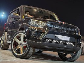 Check Out This Mahindra Scorpio With Huge 22-Inch Rims