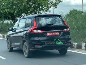 Maruti Ertiga Spotted On Test, Hints Comeback of Diesel Trims
