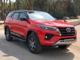 This is India's Only Toyota Fortuner Facelift with Gloss Red Body Wrap