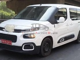 Citroen Berlingo MPV Spied On Indian Roads, Competent Toyota Innova Crysta Rival?