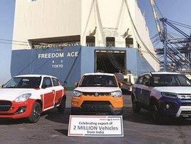 Maruti Suzuki Reaches 20 Lakh Exports Milestone